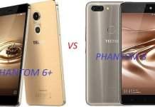 Compare tecno phantom 6 plus and phantom 8