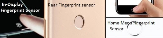 Types of smartphone fingerprint sensors