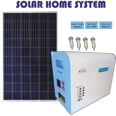 Solar Inverter Power Bank With 4 Super Bright Bulbs