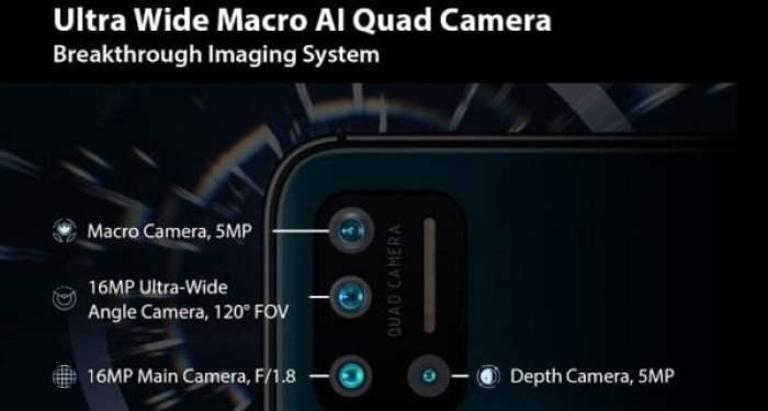 Umidigi A7 Pro quad camera features