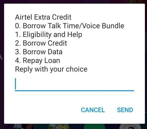 Airtel data borrowing