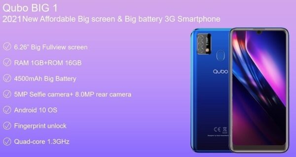 Qubo BIG 1 Specifications