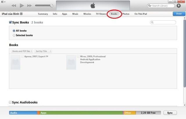 Chép sách vào iPhone, iPad