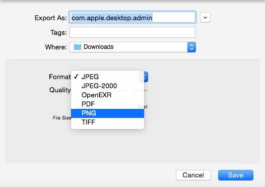 Export file thành PNG trên Preview (Mac OS X)