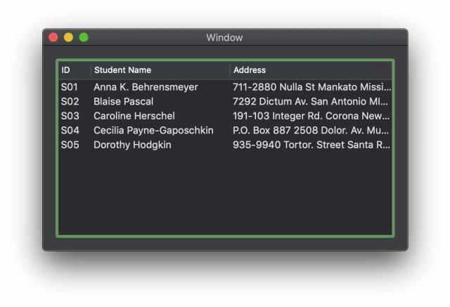 Hiển thị danh sách sinh viên lên TableView với Swift