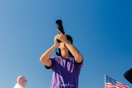 photographing the air show