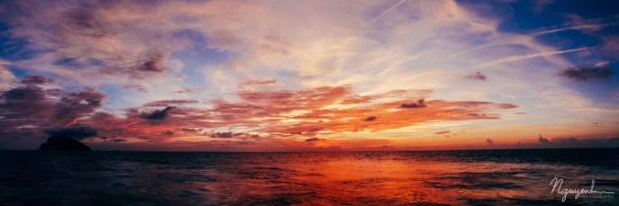 sunrise over the Strait of Luzon