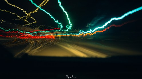 lights on the road