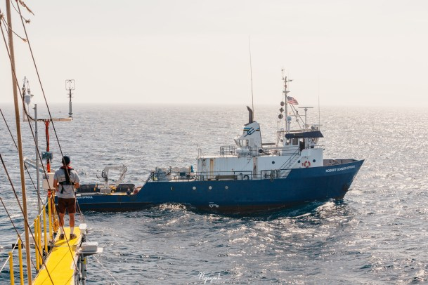 R/V Sproul at the end of starboard boom