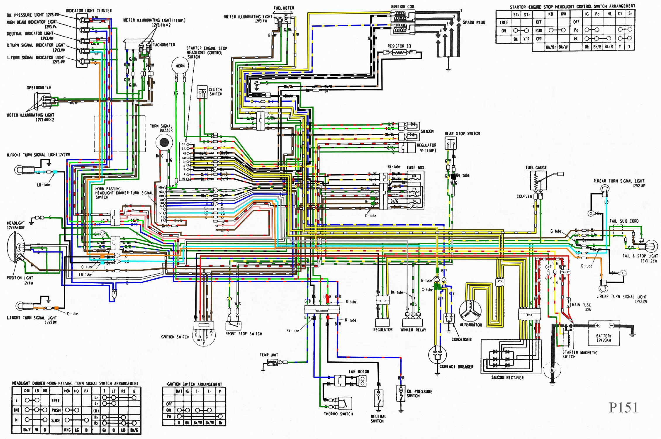 Goldwing Honda Motorcycle Wiring Diagrams