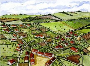 A reconstruction of the ancient town by Donna Watters