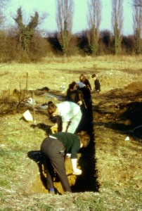 Excavating the trench at Pound Farm
