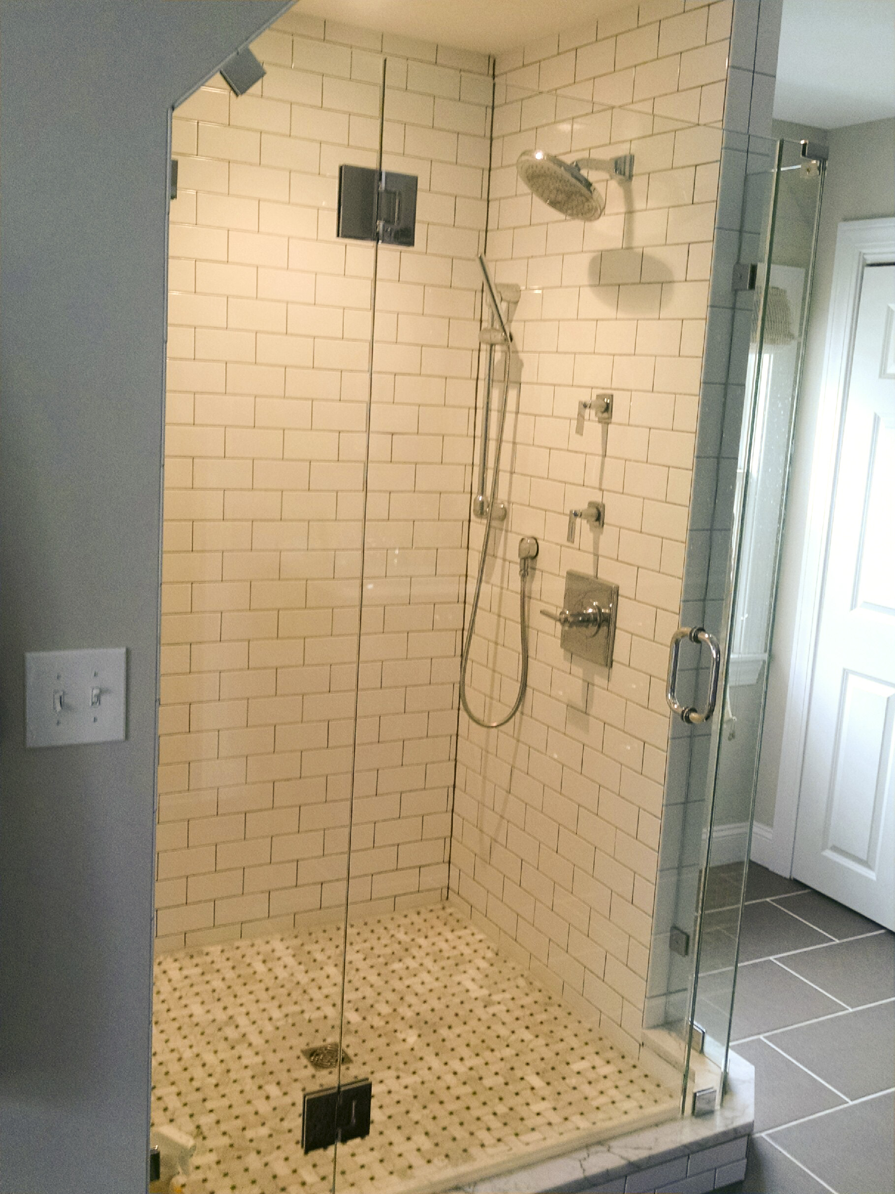white subway tile shower package nh