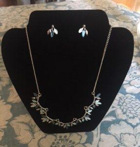 Blue Necklace & Earrings
