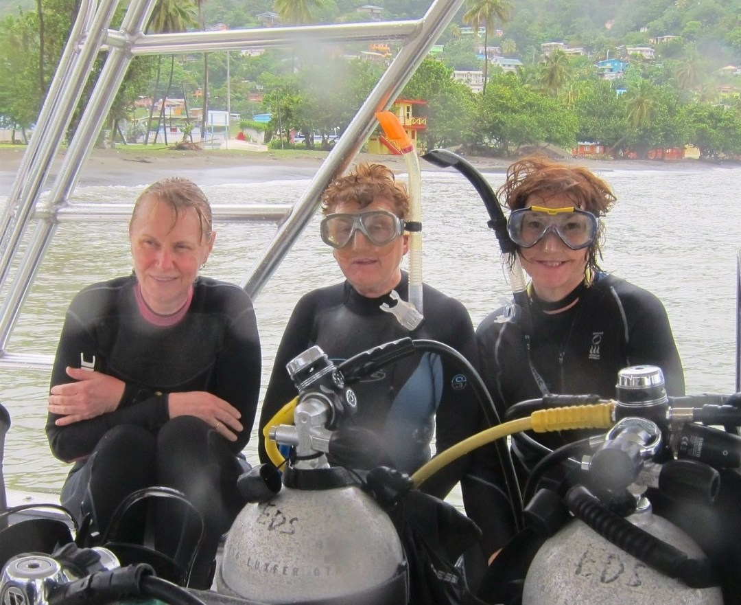 Diving the Caribbean (and Atlantic) - Wendy, Eileen and Mo