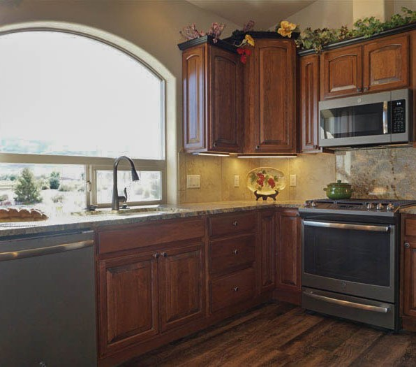 1368 Eagle kitchen with cherry wood cabinets