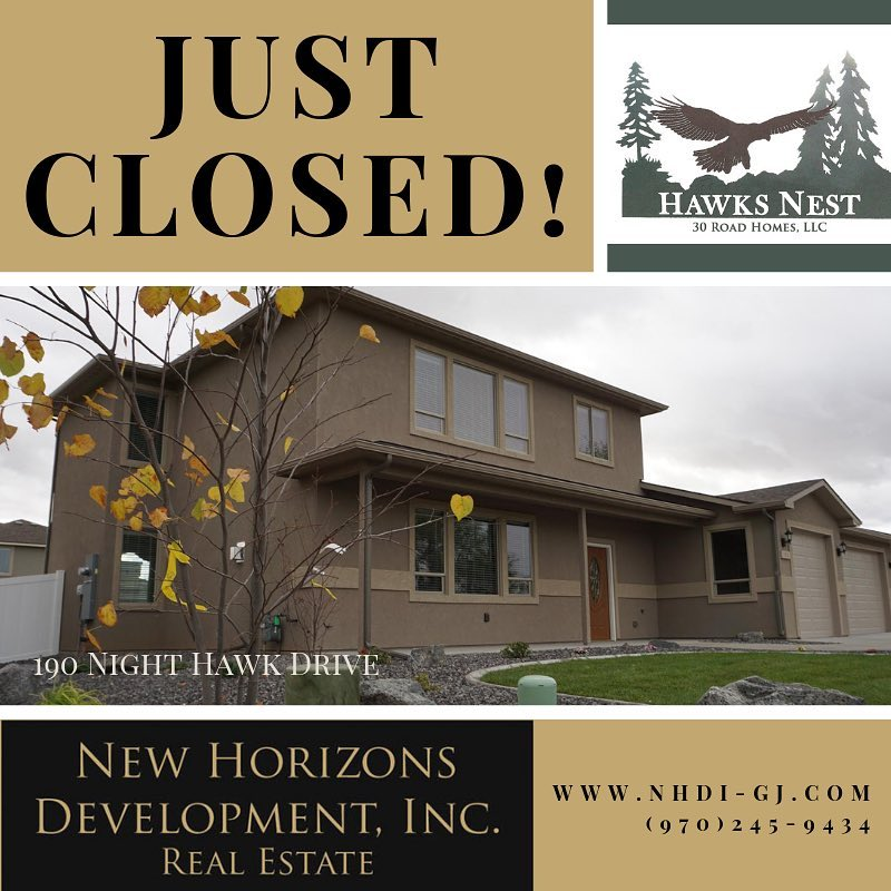 Another renter turned owner! Everybody loves it when no one has to move 😉 #hawksnestsubdivision . Sold by Janet Elliott Broker/Owner New Horizons Development, Inc. 970-245-9434