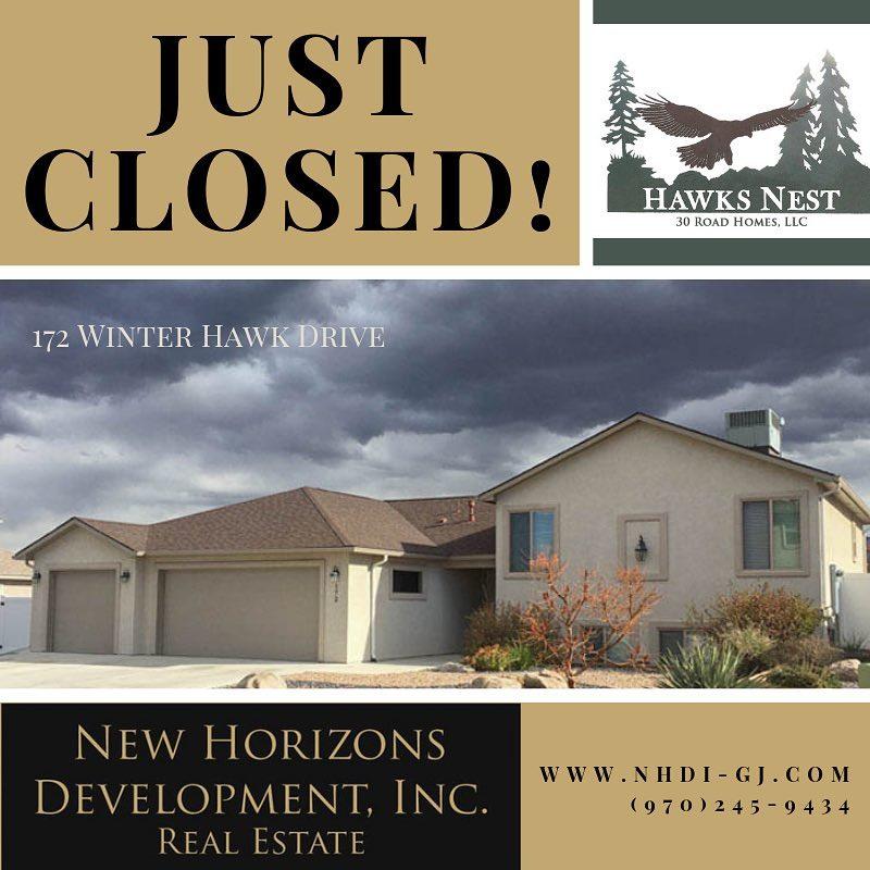 Welcome to the neighborhood! . #hawksnestsubdivision #justclosed #grandjunctionrealestate NHDI-GJ.com | 970-245-9434 New Horizons Development, Inc. Janet Elliott, Broker/Owner