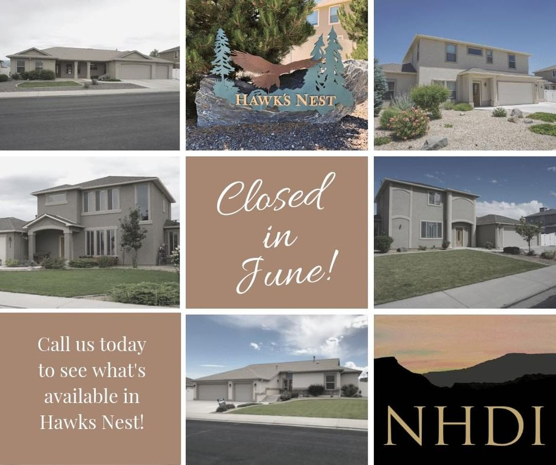 Look at all of the homes that have closed in Hawks Nest this month!   We have 3 homes currently available, and a few more coming this Summer. If you are interested in living in this great neighborhood, give us a call!   Janet – 250.0765 Jennifer – 985.9432 * New Horizons Development, Inc. 970.245.9434 | Info@NHDIGJ.com  Grand Junction, CO *
