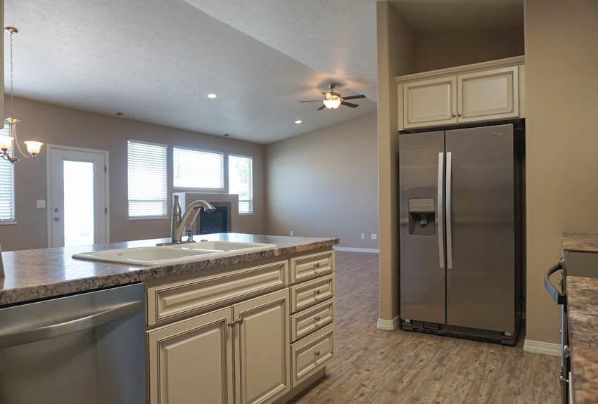 The kitchen is part of the main living area, so you won't miss out on what's going on!