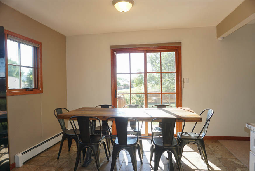 Dining Room has access to side yard & garden area