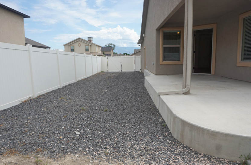 The RV parking runs along the north s=edge of the property, and i accessible through a 10-foot gate.