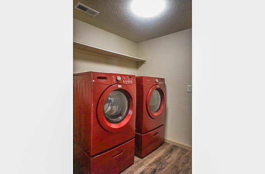 Laundry room includes washer & dryer