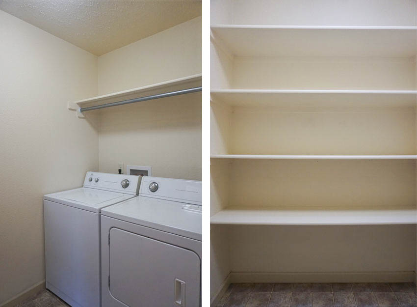 Laundry Room with linen closet.