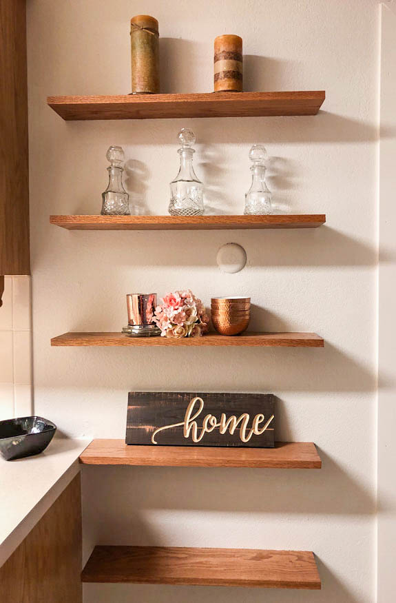 Shelving next to the kitchen in 535 Oriole Drive