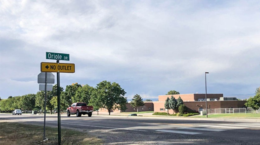 Oriole Drive is across from Redlands Middle School