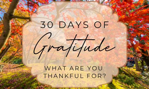 30 Days of Gratitude!