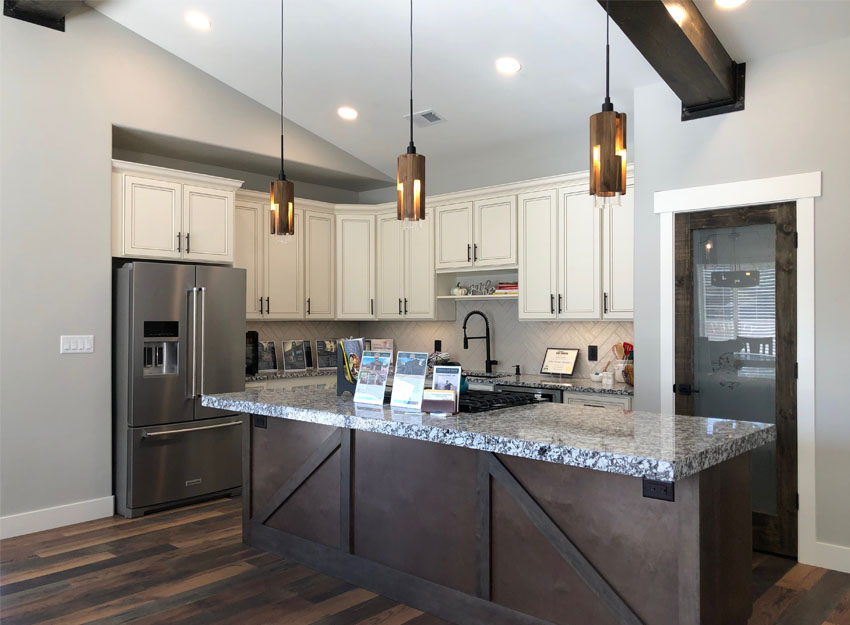 Modern Farmhouse kitchen in the parade home of Alta Home Builders.
