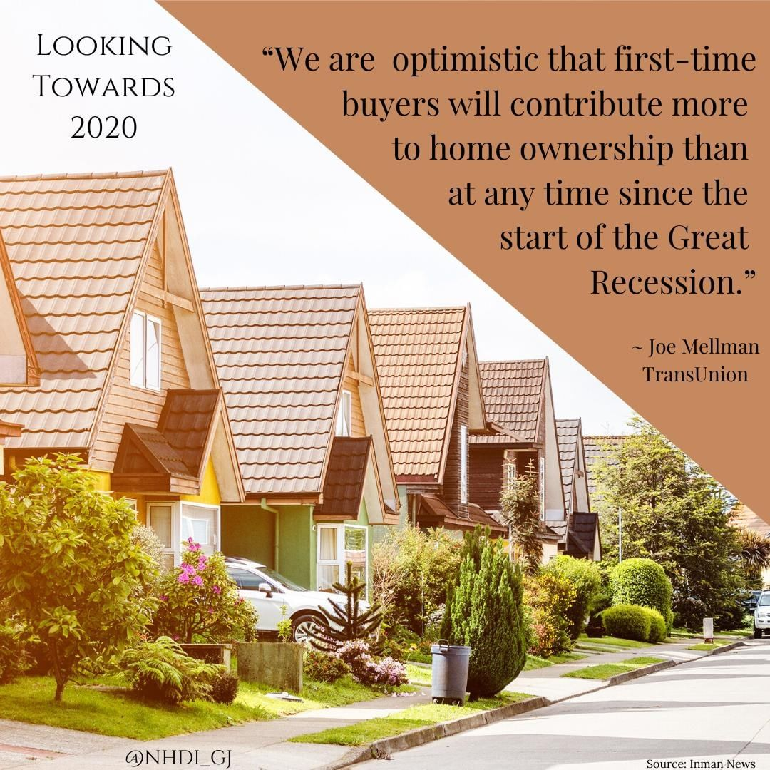 In an article this week, Inman News discussed the 2020 housing market. Mortgage rates should stay lower for a while longer, and they are expecting housing costs to stabilize a bit while incomes catch up. ⁣ ⁣ The trends show that 3 out of every 5 buyers have never bought a home before – and those homebuyers are getting younger. ⁣ ⁣ The group most likely to purchase the most homes? Milennials, aged 23-38, followed by Gen-X. Around 75% in both groups will be purchasing their first home.⁣ ⁣ If you are tired of renting, we may be able to help. We love working with first-time homebuyers, and can help you find the right local lender to help you through the process.⁣ ⁣ The dream of home ownership doesn't have to wait until you are in your 40's or 50's. Getting your financial house in order at a younger age will help you throughout your life.⁣ ⁣ Give us a call!⁣ 𝐍𝐞𝐰 𝐇𝐨𝐫𝐢𝐳𝐨𝐧𝐬 𝐃𝐞𝐯𝐞𝐥𝐨𝐩𝐦𝐞𝐧𝐭, 𝐈𝐧𝐜.⁣ 𝟗𝟕𝟎-𝟗𝟖𝟓-𝟗𝟒𝟑𝟐 | 𝘐𝘯𝘧𝘰@𝘕𝘏𝘋𝘐𝘎𝘑.𝘤𝘰𝘮