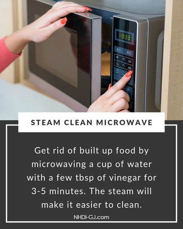 Thanksgiving is this week! Take a few minutes now to prep your microwave for the big day!  I also add some lemon juice to the vinegar water, and I let it sit in the microwave for a good 10 minutes after it finishes to let the steam really get in there & do the work for me.  Make sure the microwave runs long enough to get the water boiling – higher elevations (like ours) tend to take a few extra minutes.  After it sits & steams, just wipe the inside out with a cloth or paper towel, and voila! A sparkly clean microwave, just in time for your mother-in-law to come over. 😉