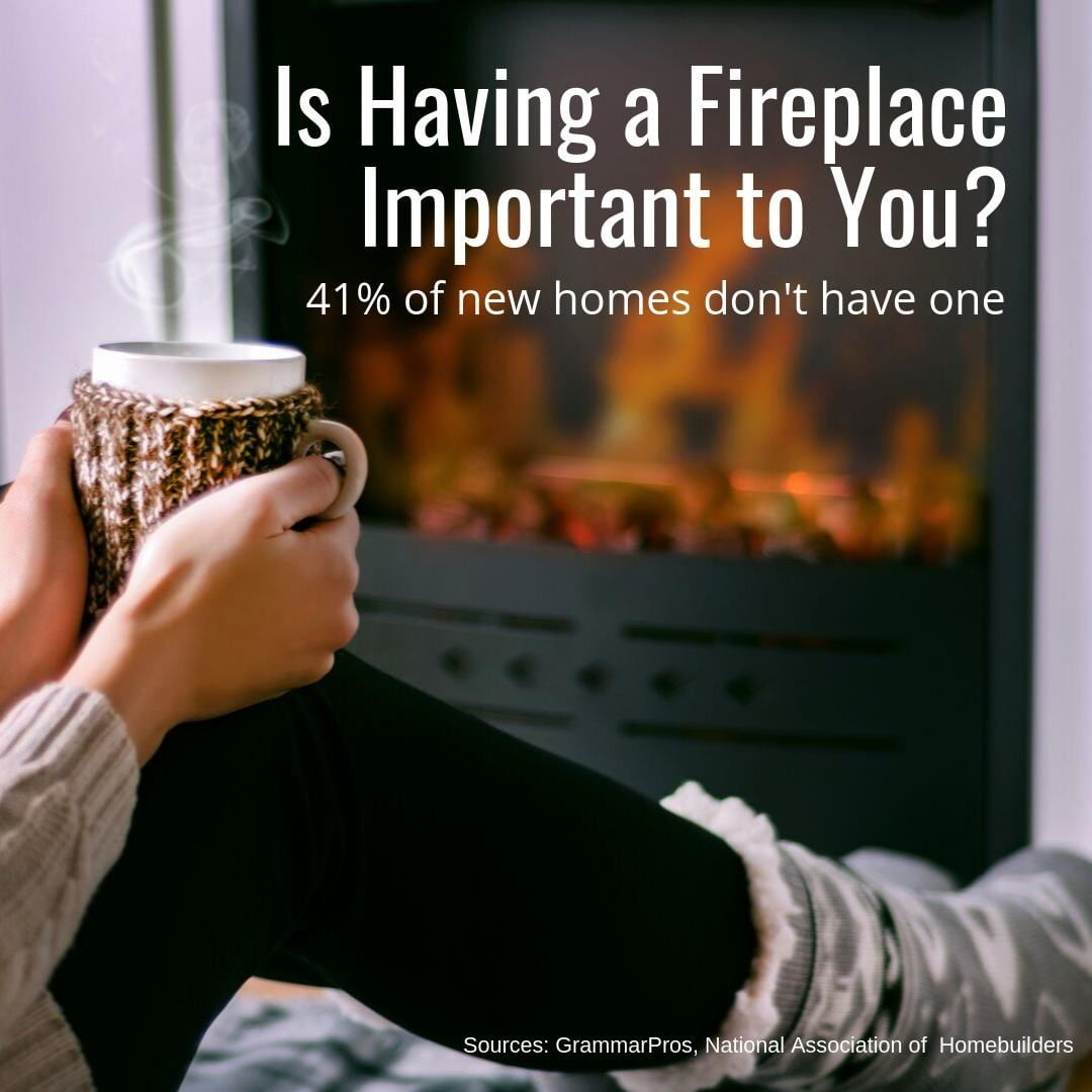 There's nothing like a warm fire on a cold winter evening. Don't you agree?   It creates a great atmosphere for gatherings, or the perfect place to curl up with a warm beverage and a good book!  If a fireplace is high on your list, let us know! We can specifically look for one when we search for homes.
