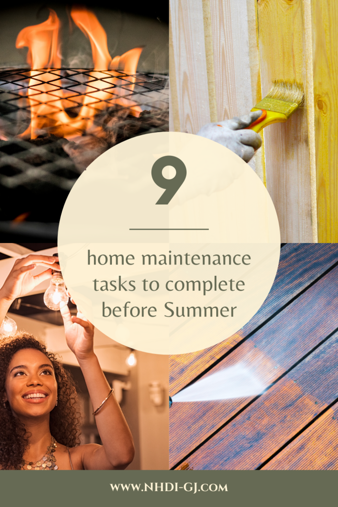 9 Home Maintenance tasks to complete before Summer