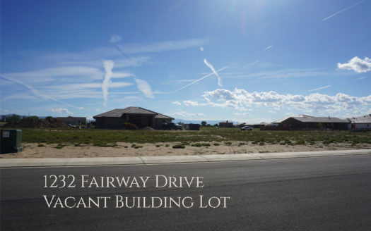 1232 Fairway Drive is a ⅓ acre vacant building lot in Adobe Falls Subdivision in Fruita, Colorado