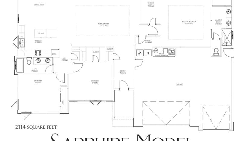 856 Fire Agate Ln - Sapphire Model - 3 bedroom, 2 bath 2114 square foot home with a 3-car garage + RV parking in Emerald Ridge Estates.