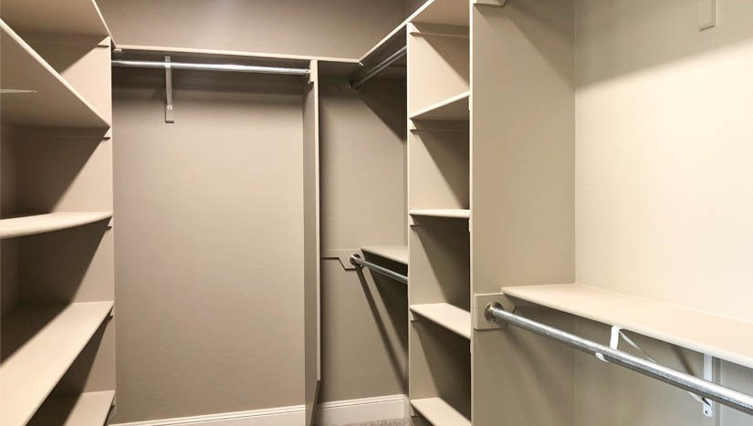 One of the walk-in closets in the master suite of 1446 Shoreline Drive in Fruita.
