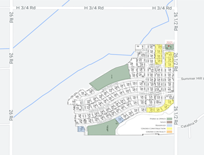 Emerald Ridge Estates is located between 26 & 26.5 Roads north of H Road in north Grand Junction, CO.