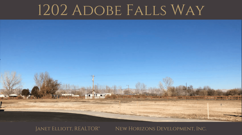 1202 Adobe Falls Way is a 0.44 acre vacant building lot in Adobe Falls Subdivision in Fruita, CO.