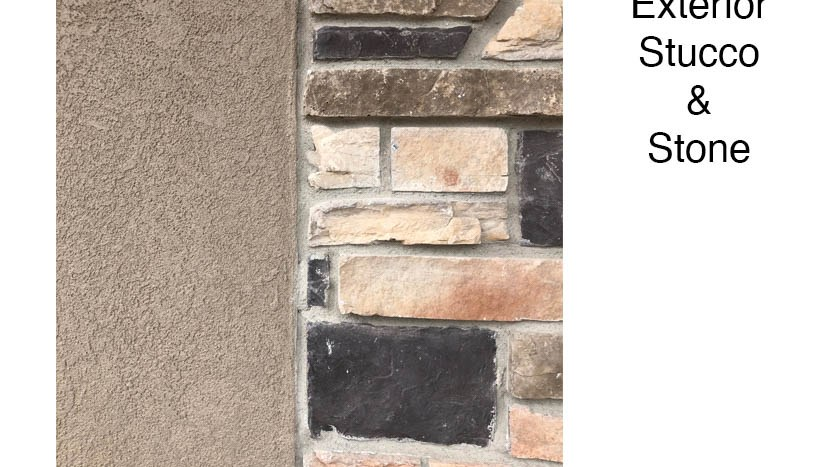 The exterior stucco and stone used on 853 Fire Agate Lane are neutral without being boring!