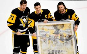 O milésimo jogo de Sidney Crosby na NHL