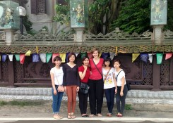 Jaz and friends in Vietnam