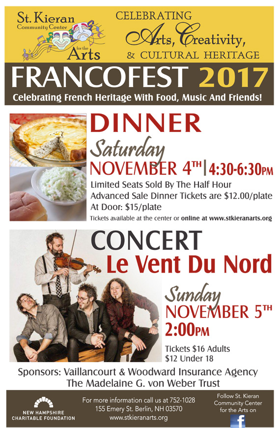 Francofest 17 Dinner At St Kieran Arts Center NH Grand