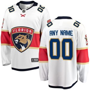 Men's Florida Panthers Fanatics Branded White Away Breakaway Custom Jersey