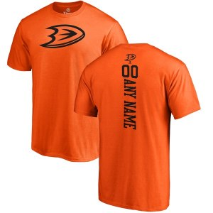 Men's Anaheim Ducks Fanatics Branded Orange Personalized One Color Backer T-Shirt