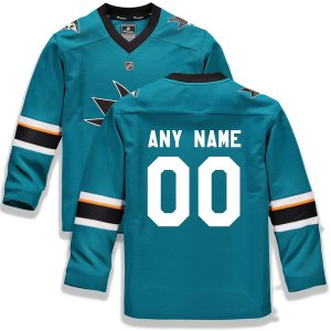 Youth San Jose Sharks Fanatics Branded Teal Home Replica Custom Jersey