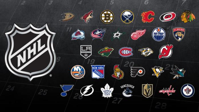 NHL Teams for the 2017-2018 season