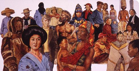 As populações humanas em todo o mundo hoje mostram diferenças regionais em sua aparência, mas nossos esqueletos e genes mostram que todos nós compartilhamos um ancestral comum Africano.